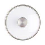 烹调罐平底锅的不锈钢盖帽被隔绝在白色背景 库存图片