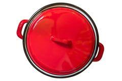 烹调罐的搪瓷 免版税图库摄影
