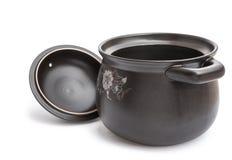 烹调罐的黏土 库存图片