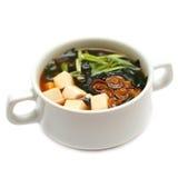烹调美食的日本汤 免版税库存照片