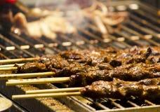 烹调肉串 免版税图库摄影