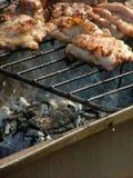 烹调肉的烤肉 图库摄影