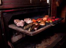 烹调肉的阿根廷烤肉 免版税图库摄影