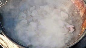 烹调肉饭。煮沸 影视素材