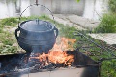 烹调自然的食物 免版税库存图片