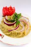 烹调茄子罗马尼亚人沙拉 库存照片