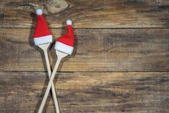 烹调菜单的圣诞节食物 免版税库存照片