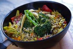 烹调菜蔬菜炖肉 免版税库存图片