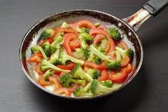 烹调蔬菜 图库摄影