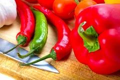 烹调蔬菜 库存照片