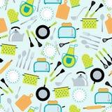 烹调辅助部件无缝的样式 免版税库存图片