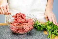 烹调陆运的牛肉 免版税库存图片