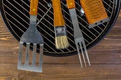 烹调集合的烤肉 库存照片