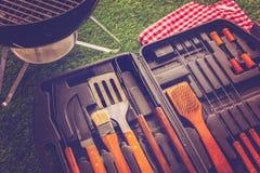 烹调集合的烤肉 库存图片