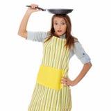 烹调食物健康妇女年轻人 免版税库存图片