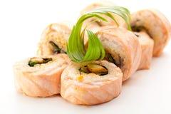 烹调食物日本maki寿司 免版税库存图片