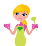烹调食物绿色健康母亲准备 图库摄影