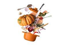 烹调食物 库存例证