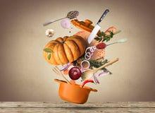 烹调食物 免版税库存照片