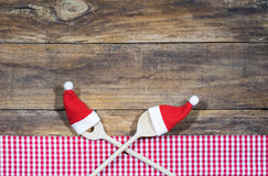 烹调食谱食物背景的圣诞节 免版税库存照片