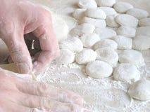 烹调饺子 库存图片