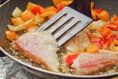 烹调鱼胡椒 库存照片