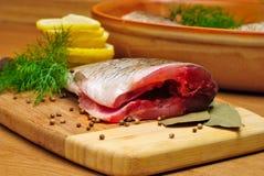烹调鱼 免版税库存图片