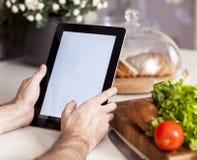 烹调,技术和家庭概念 免版税库存图片