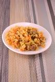烹调-与菜和肉的炒饭 库存图片