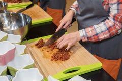 烹调从厨师的教训 免版税库存图片