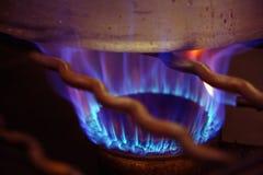 烹调gaz罐的烹饪器材 免版税库存图片
