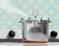 烹饪器材压 图库摄影