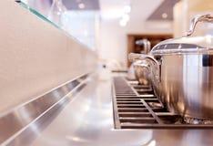 烹饪器材气体做罐钢 免版税库存照片