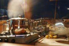 烹饪器材气体 免版税库存图片