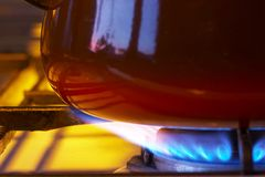 烹饪器材气体 免版税库存照片