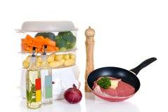 烹饪器材牛排蒸汽 免版税图库摄影