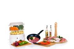 烹饪器材肉蒸汽 免版税图库摄影