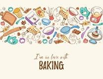 烹饪时间海报 库存图片