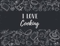 烹饪时间海报 免版税库存图片
