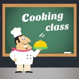 烹饪课广告海报 免版税库存照片