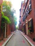 烽火台街道地区在波士顿 免版税库存图片