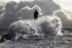烽火台风雨如磐的通知 免版税图库摄影