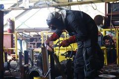 焊工人 免版税库存图片
