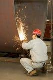 焊工工作 库存图片