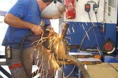 焊工工作 库存照片
