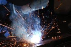 焊工工作 图库摄影