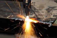 焊工工作 免版税图库摄影