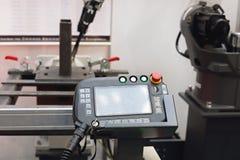 焊工机器人控制器 库存图片