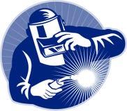 焊工焊接工作 库存照片