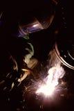 焊工焊接 库存照片